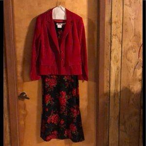 R&K Sz 8 Sleeveless Women's Dress with Jacket.